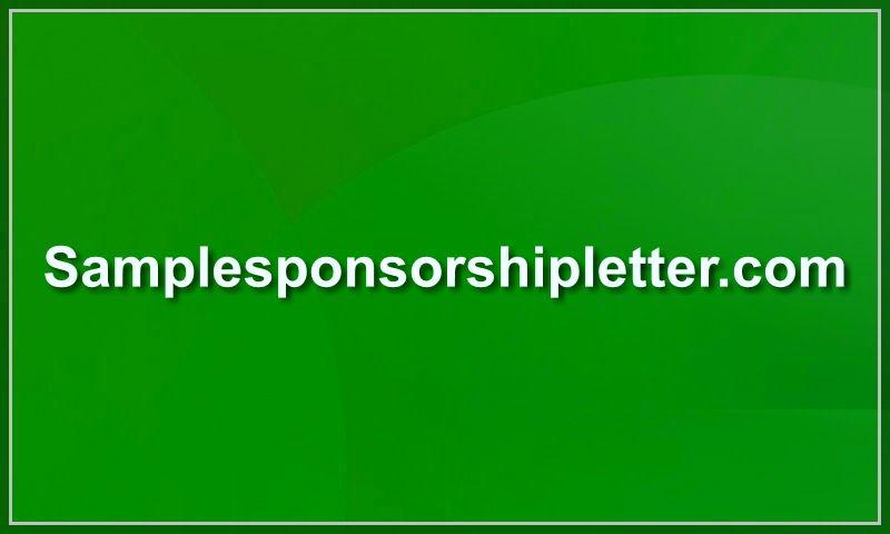 samplesponsorshipletter.com