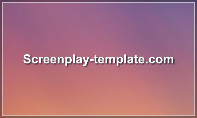 screenplay-template.com