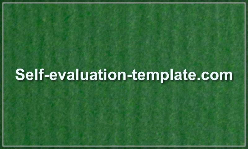 www.self-evaluation-template.com
