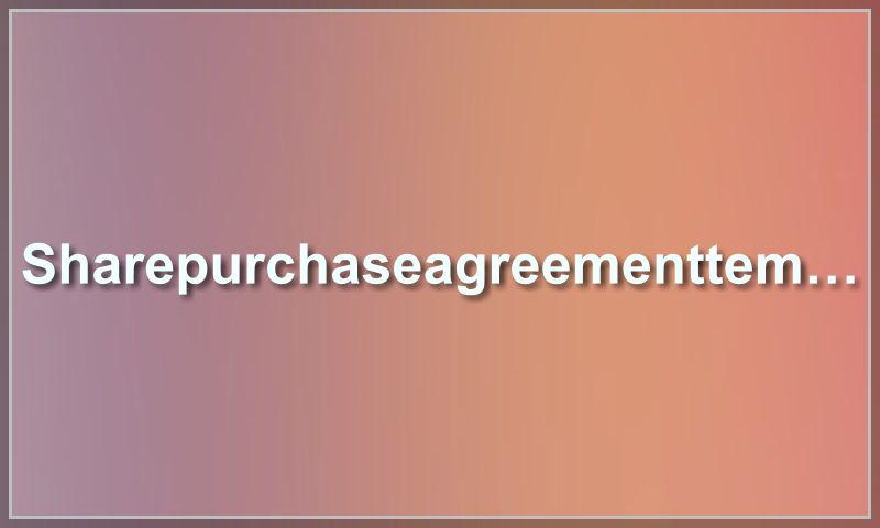sharepurchaseagreementtemplate.com