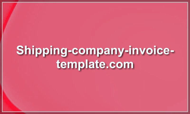 shipping-company-invoice-template.com