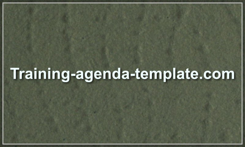 training-agenda-template.com
