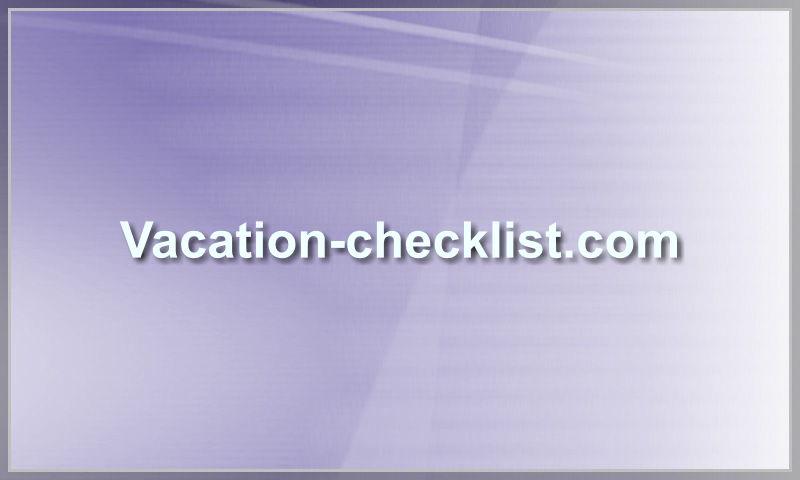 vacation-checklist.com