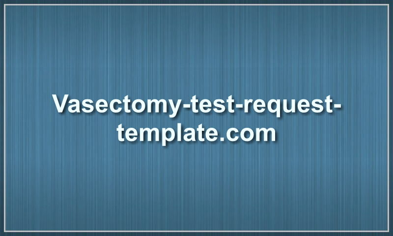 vasectomy-test-request-template.com