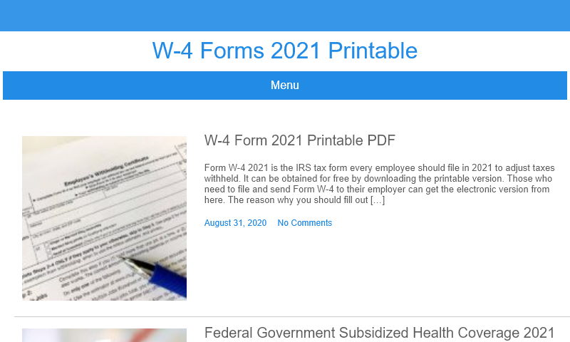 w4forms2021printable.org