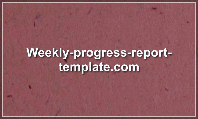 weekly-progress-report-template.com