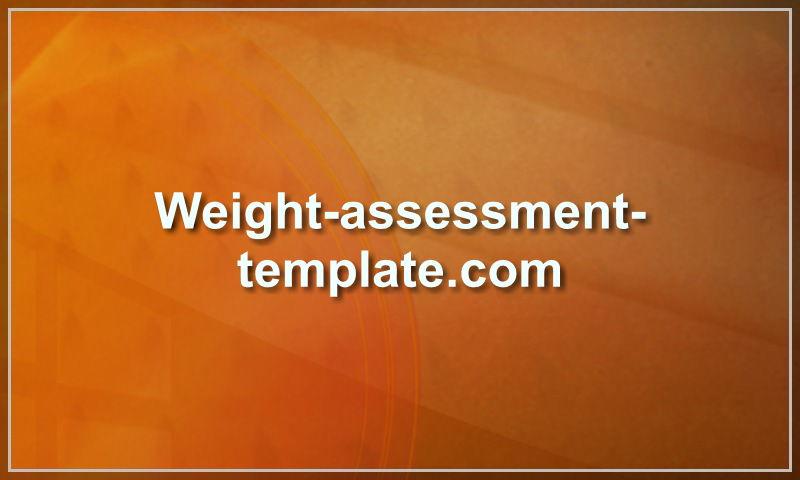 weight-assessment-template.com
